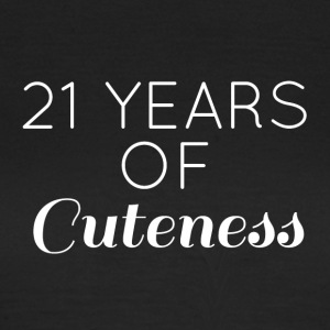 21. Geburtstag: 21 Years of Cuteness - Frauen T-Shirt