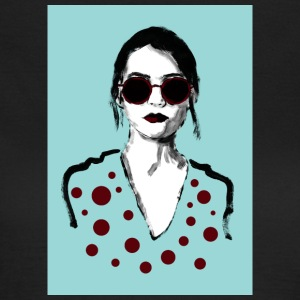 Woman with red glasses - Women's T-Shirt