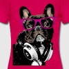 AD Hipster Frenchie - T-shirt dam