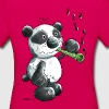 Panda bear playing flute - Women's T-Shirt