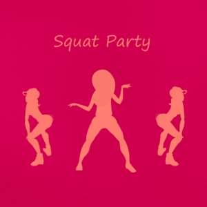Squat party coral - Women's T-Shirt