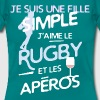 Rugby / rugbywoman - une fille simple - T-shirt Femme