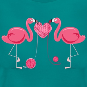 Flamingos Knit A Heart Shape