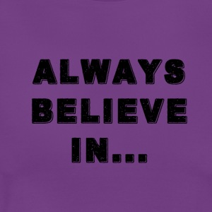BLACK REFLET ALWAYS BELIEVE IN... - T-shirt Femme
