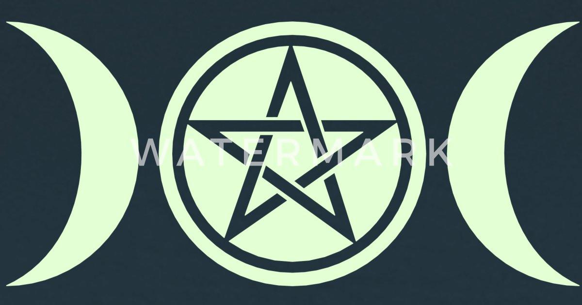 Wicca Triple Moon Goddess Symbol Pentagram By Yuma Spreadshirt