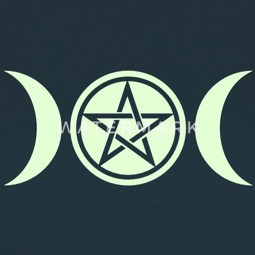 Wicca Triple Moon Goddess Symbol Pentagram Van Yuma Spreadshirt
