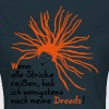 Lili - Dreads - text - 2 Farb Vektor - Frauen T-Shirt