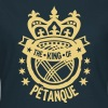king petanque couronne crown roi logo ba - T-shirt Femme