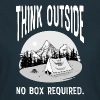 Think Outside - No Box Required - T-shirt dam