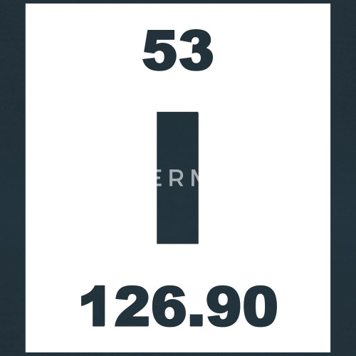 Element 53 I Iodine Short Inv Van Elementaltable Spreadshirt