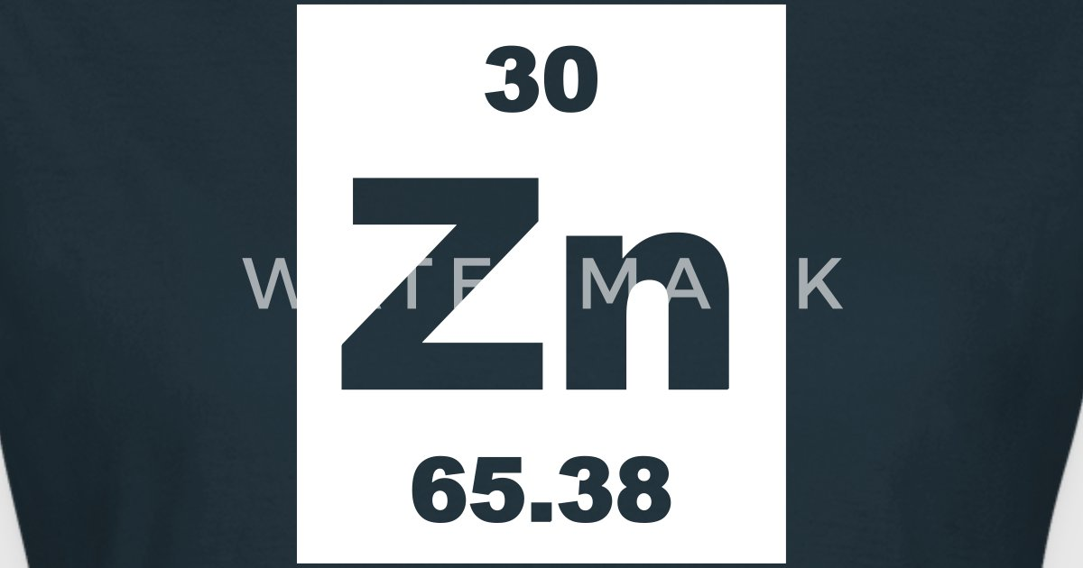 Zinc Zn Element 30 By Elementaltable Spreadshirt