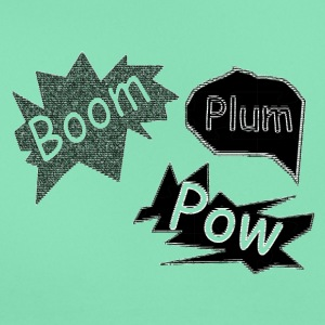 plum boom pow - Women's T-Shirt