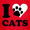 katt - I love cats - T-shirt dam