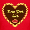 Typical German Gingerbread heart + Your Text - Women's T-Shirt