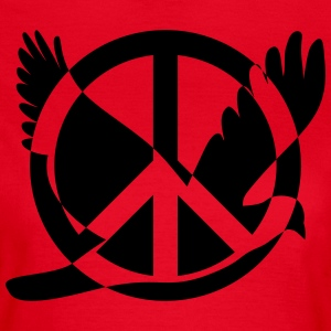 Peace symbol with dove - Women's T-Shirt