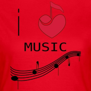 I_LOVE_MUSIC - Women's T-Shirt