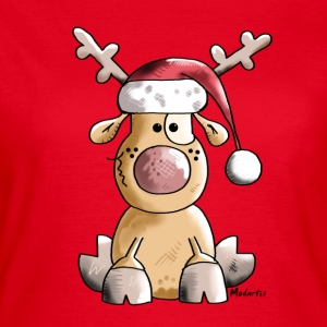 Funny Christmas Reindeer Cartoon