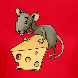 Fiese mouse rodent mouse vermin rodent cheese - Women's T-Shirt