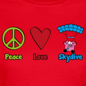 Peace Love Skydive - T-skjorte for kvinner