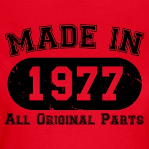 Made in 1977 All Original Parts 40th Birthday - Women's T-Shirt