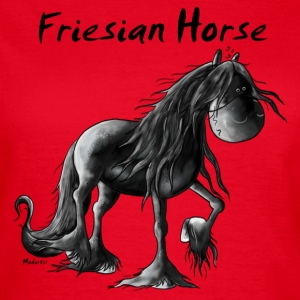 Funny Friesian Horse Cartoon