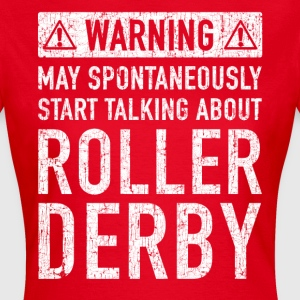 Tweet Roller Derby Design - Dame-T-shirt