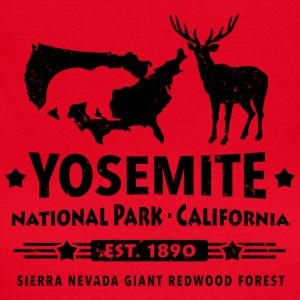 Yosemite National Park Californien Bjørn Redwood - Dame-T-shirt