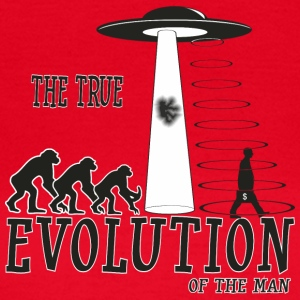 the true evolution of the man - Camiseta mujer