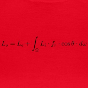 Transport equation of light. - Women's T-Shirt
