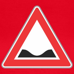 Road Sign ned rød trekant - Dame-T-shirt