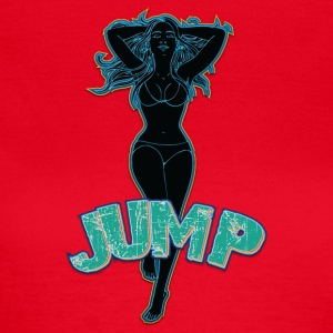Big tits girl jumping neon - Women's T-Shirt