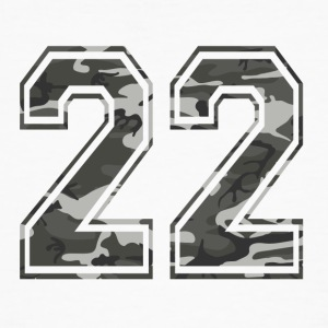 Numbers Camouflage Paintball Bundeswehr 22 - Men's Organic T-shirt
