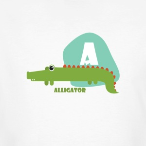 A voor Alligator - Mannen Bio-T-shirt