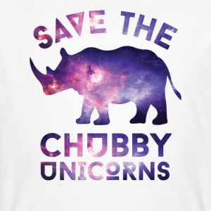 SAVE THE CHUBBY UNICORNS T-SHIRT - Men's Organic T-shirt