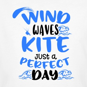 Wind Waves Kite Just A Perfect Day - Männer Bio-T-Shirt