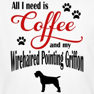 Wirehaired Pointing Griffon Coffee - Men's Organic T-shirt