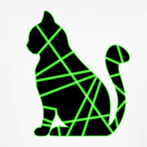 Green-Black Cat - Mannen Bio-T-shirt