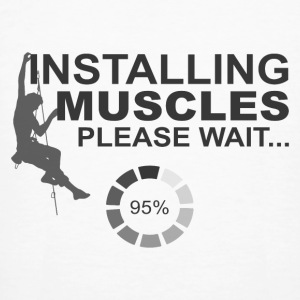 Installing Muscles, Please Wait - Men's Organic T-shirt