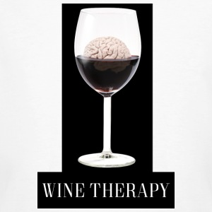 Wine Therapy - Økologisk T-skjorte for menn