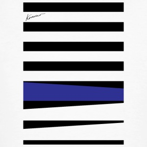 Royal Blue Stripes - Ekologisk T-shirt herr