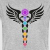 Kundalini, Chakras, Winged Serpent, Cosmic Energy - Men's Organic T-shirt