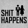 SHIT HAPPENS - WEDDINGS - JGA - Männer Bio-T-Shirt