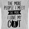 The More People I Meet, The More I Love My Cat - Männer Bio-T-Shirt