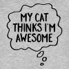 My Cat Thinks I'm Awesome - Men's Organic T-shirt
