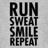 Run, Sweat, Smile, Repeat - T-shirt bio Homme