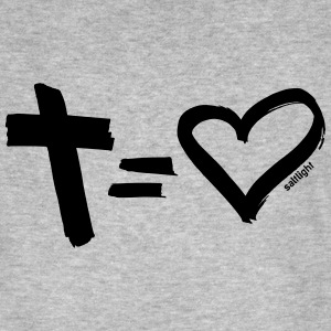 Cross = Hart ZWART // Cross = Liefde BLACK - Mannen Bio-T-shirt