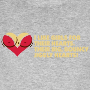 I Love Women For Their Hearts - Men's Organic T-shirt