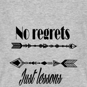 No regrets just lessons - Men's Organic T-shirt