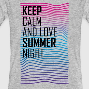 Keep calm and love summer night T-shirt - Men's Organic T-shirt