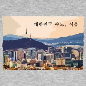 Seoul at Sunset - Men's Organic T-shirt